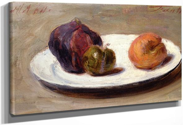 Figs, Greengage And Apricot By Henri Fantin Latour By Henri Fantin Latour