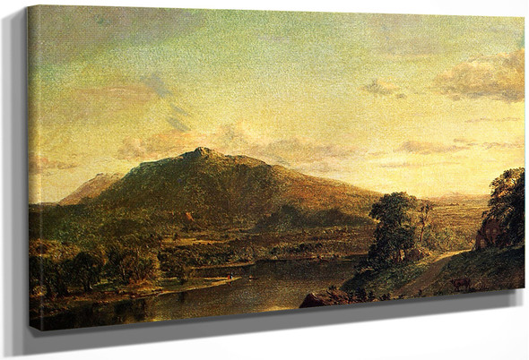 Figures In A New England Landscape By Frederic Edwin Church By Frederic Edwin Church