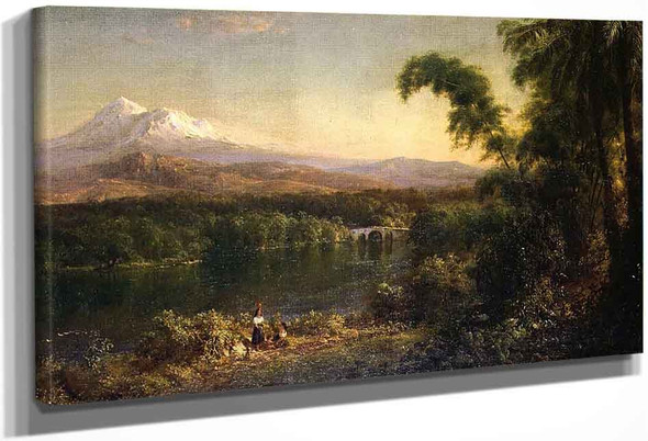 Figures In An Ecuadorian Landscape By Frederic Edwin Church By Frederic Edwin Church