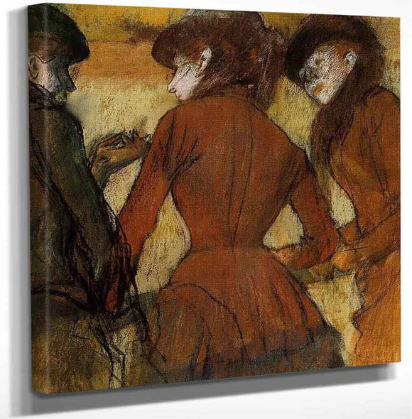 Three Women At The Races By Edgar Degas Art Reproduction