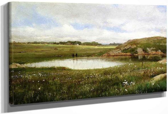 Freshwater Pond In Summer Rhode Island By Thomas Worthington Whittredge