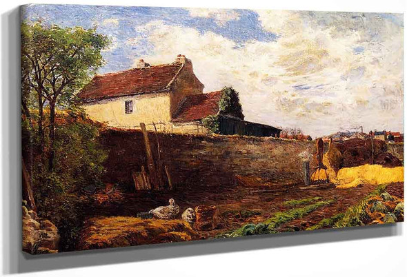Geese On The Farm By Paul Gauguin