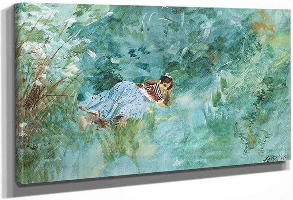 Girl In The Grass By Anders Zorn