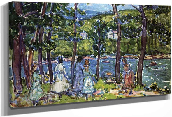 Girls On The Riverbank By Maurice Prendergast