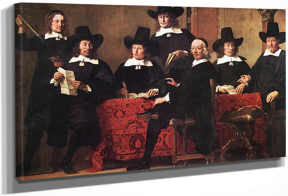 Governors Of The Wine Merchant's Guild By Ferdinand Bol