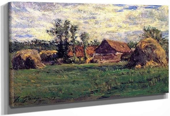 Haystacks By Paul Gauguin
