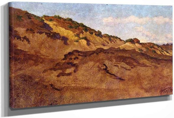 Hillside Between Perugia And Gubbio, Italy By Elihu Vedder