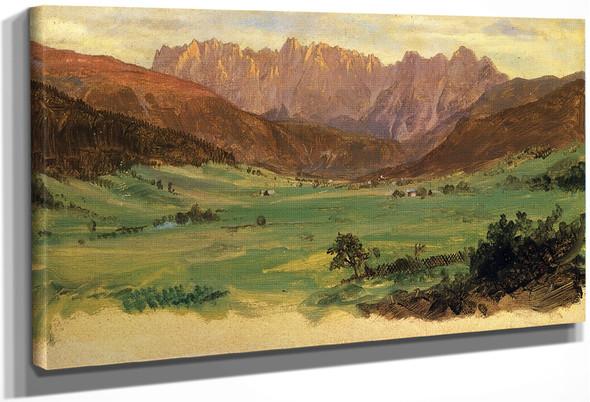 Hinter Schonau And Reiteralp Mountains, Bavaria By Frederic Edwin Church By Frederic Edwin Church