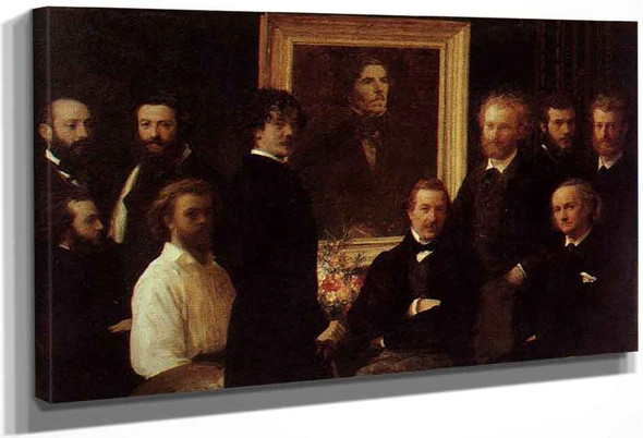 Homage To Delacroix By Henri Fantin Latour By Henri Fantin Latour