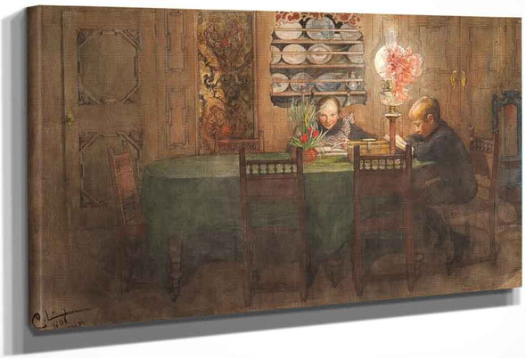 Homework By Carl Larsson