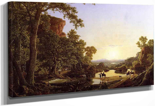 Hooker And Company Journeying Through The Wilderness From Plymouth To Hartford, In 1636 By Frederic Edwin Church