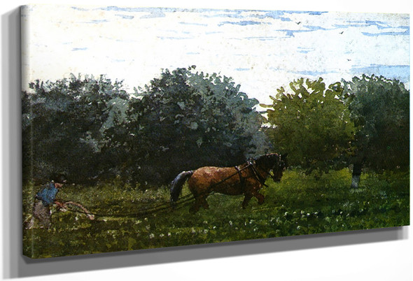 Horse And Plowman, Houghton Farm By Winslow Homer