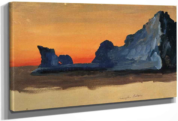 Icebergs At Midnight, Labrador By Frederic Edwin Church By Frederic Edwin Church