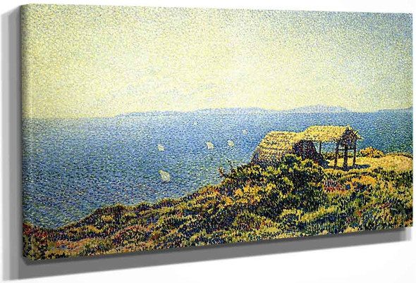 Ile Du Levant, View From Cape Benat, Brittany By Theo Van Rysselberghe