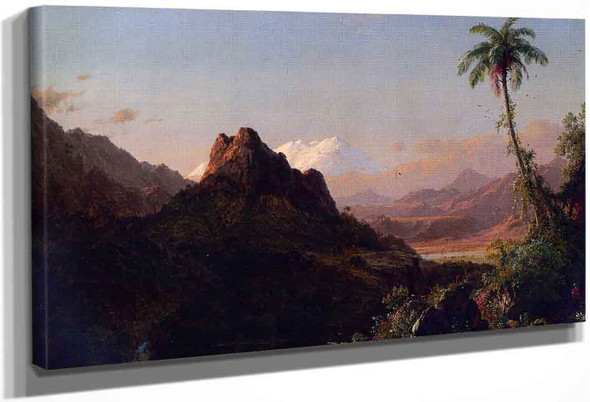 In The Tropics By Frederic Edwin Church By Frederic Edwin Church