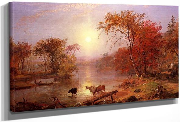 Indian Summer Hudson River By Albert Bierstadt