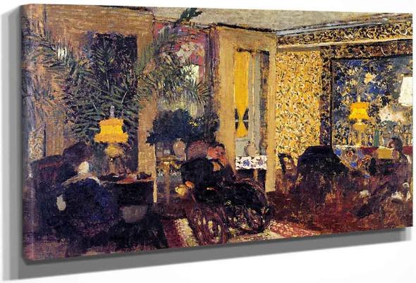 Interior, The Salon With Three Lamps, Rue Saint Florentin By Edouard Vuillard