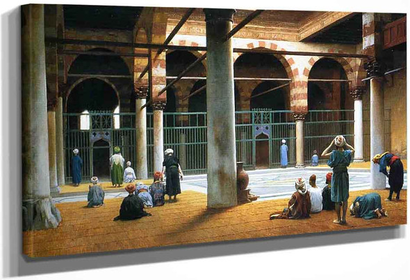 Interior Of A Mosque By Jean Leon Gerome