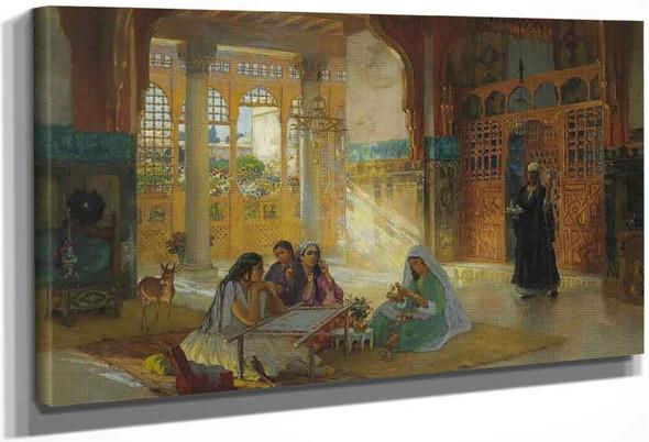 Interior Of An Arab Palace By Frederick Arthur Bridgman