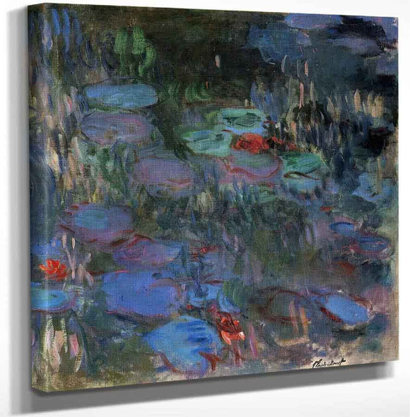 Water Lilies Reflections Of Weeping Willows (Right Half) By Claude Oscar Monet(French 1840 1926) Art Reproduction