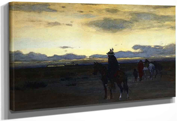 Intruder On The Plain By Henry F. Farny By Henry F. Farny