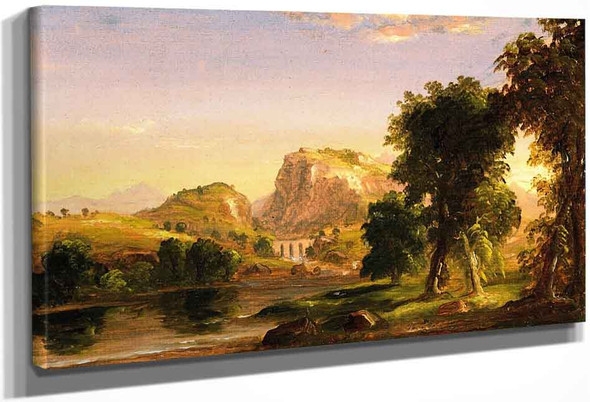 Italian Landscape By Thomas Cole By Thomas Cole