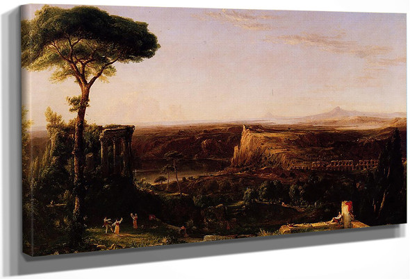 Italian Scene, Composition By Thomas Cole By Thomas Cole