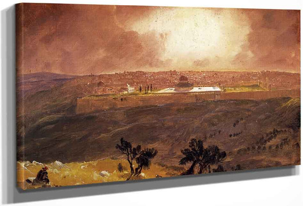 Jerusalem From The Mount Of Olives1 By Frederic Edwin Church By Frederic Edwin Church