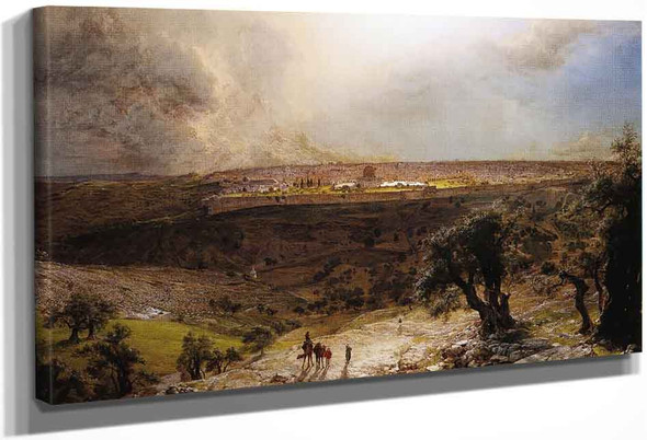 Jerusalem From The Mount Of Olives By Frederic Edwin Church By Frederic Edwin Church