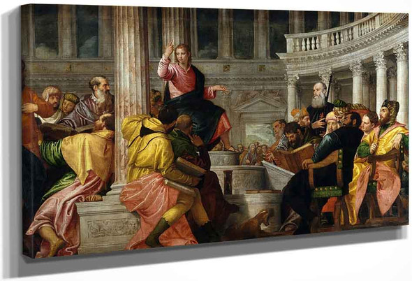 Jesus Among The Doctors By Paolo Veronese
