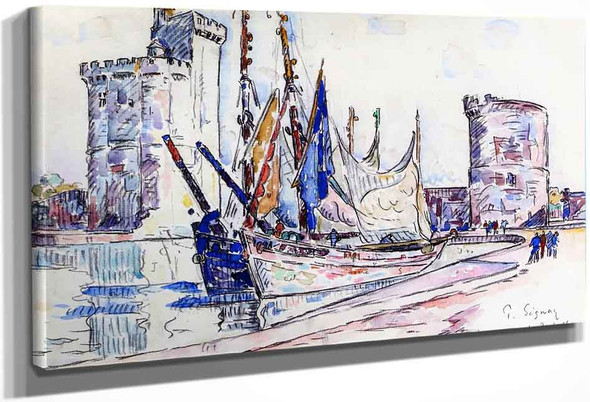 La Rochelle2 By Paul Signac