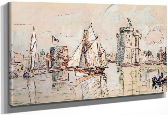 La Rochelle4 By Paul Signac