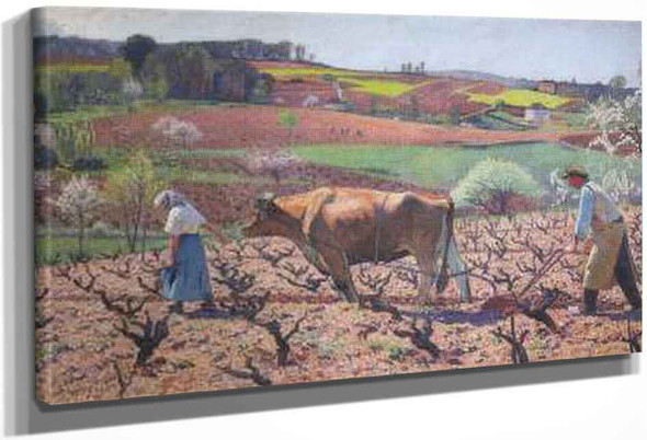 Laborers Prepare The Vines In Quercy By Henri Martin