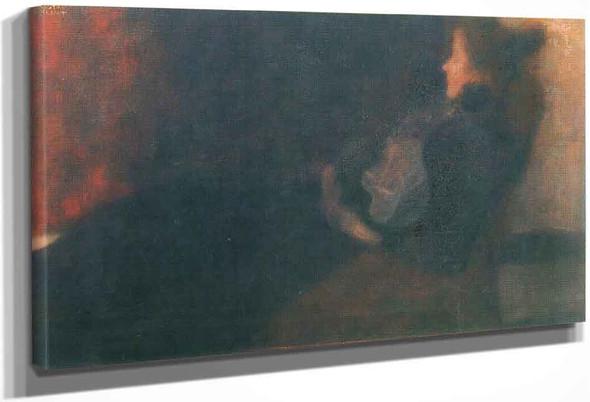 Lady By The Fireplace By Gustav Klimt