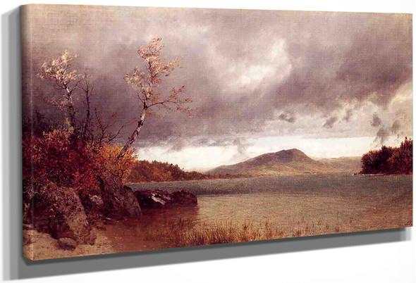 Lake George By John Frederick Kensett By John Frederick Kensett