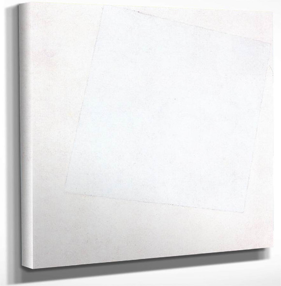 White Square On White By Kasimir Malevich Art Reproduction