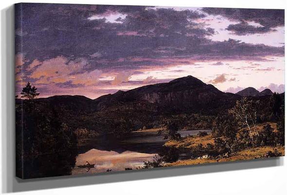 Lake Scene In Mount Desert By Frederic Edwin Church By Frederic Edwin Church
