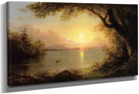 Lake Scene By Frederic Edwin Church By Frederic Edwin Church