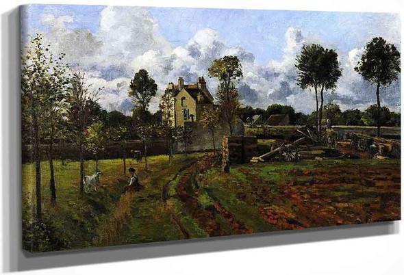 Landscape At Pontoise By Camille Pissarro