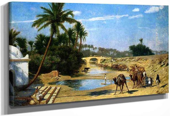Landscape Caravan By Jean Leon Gerome