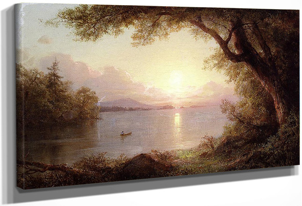 Landscape In The Adirondacks By Frederic Edwin Church By Frederic Edwin Church