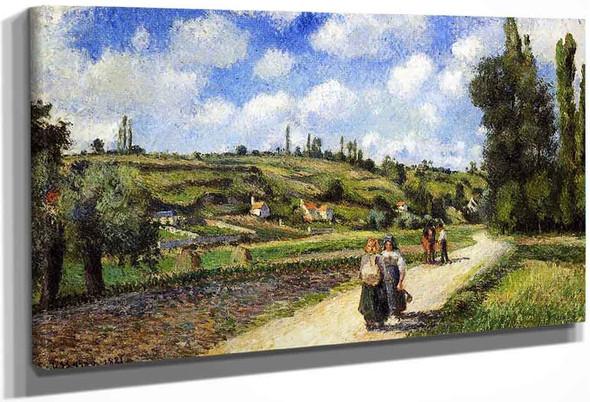 Landscape Near Pontoise, The Auvers Road By Camille Pissarro