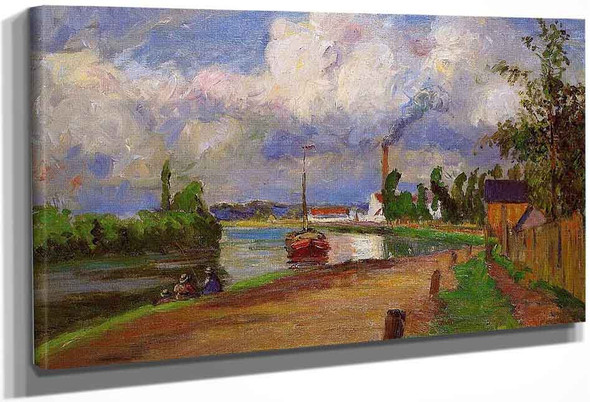 Landscape Of The Oise By Camille Pissarro