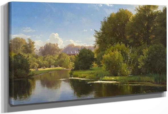 Landscape With A Stream By Carl Frederik Peder Aagaard By Carl Frederik Peder Aagaard