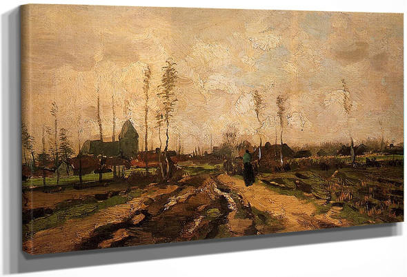 Landscape With Church And Farms By Vincent Van Gogh