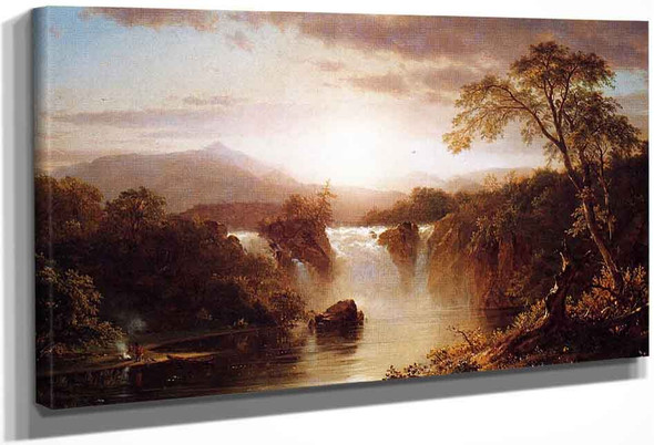 Landscape With Waterfall By Frederic Edwin Church By Frederic Edwin Church
