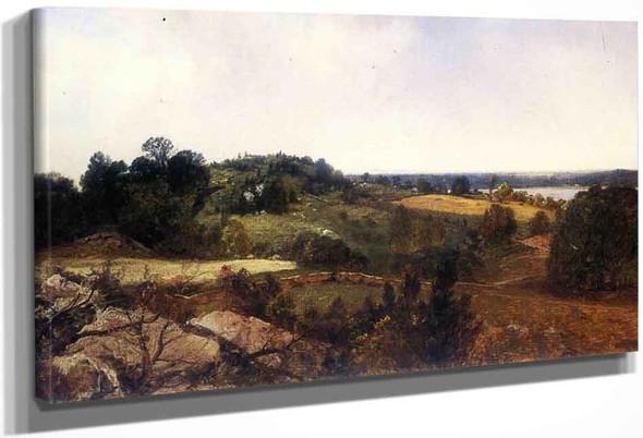 Landscape1 By John Frederick Kensett By John Frederick Kensett