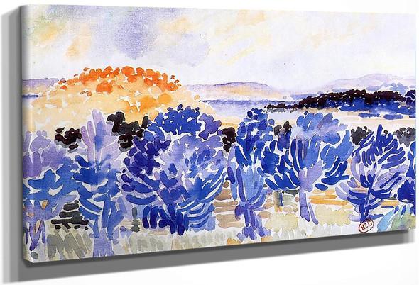 Landscape By Henri Edmond Cross By Henri Edmond Cross