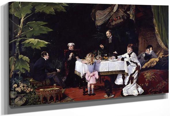 Le Dejeuner Dans La Serre By Louise Abbema By Louise Abbema