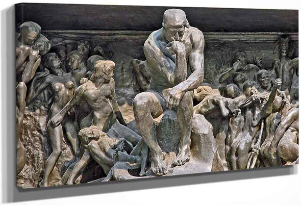Le Penseur In Situ On 'Gates Of Hell' By Auguste Rodin